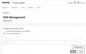 2 steps to point godaddy domain to siteground wordpress hosting