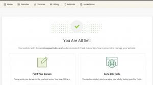 wordpress installation finished on siteground hosting