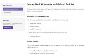 chemicloud money back guarantee